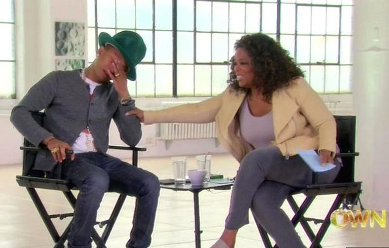 pharrell in tears Oprah