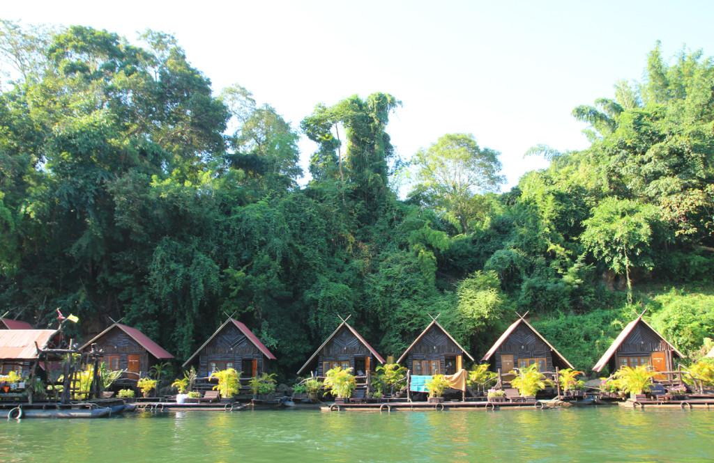 bungalow on water kanchanaburi