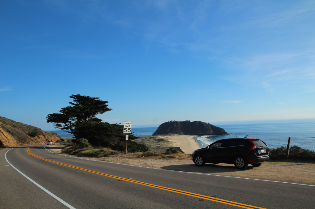 roadtrip big sur car