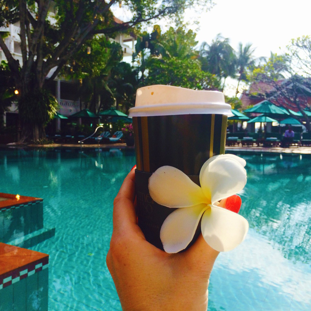 anantara pool and coffee