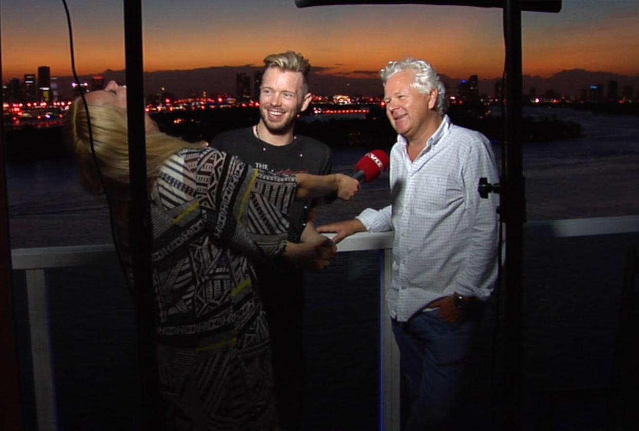 Ray Kay, Øyvind Fjeldheim og Merete Gamst i Miami