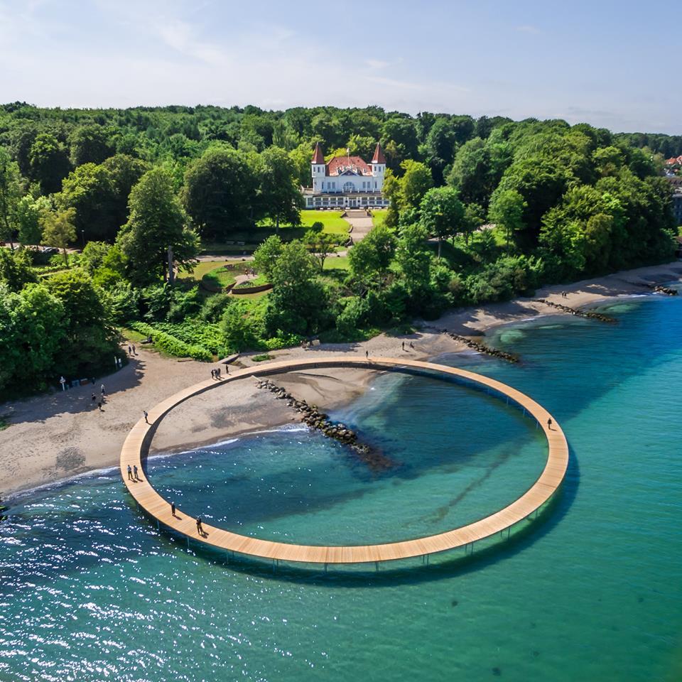 Aarhus reisetips strand den uendelige bro