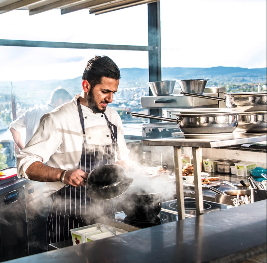 Ekebergrestauranten Oslo bar utsikt