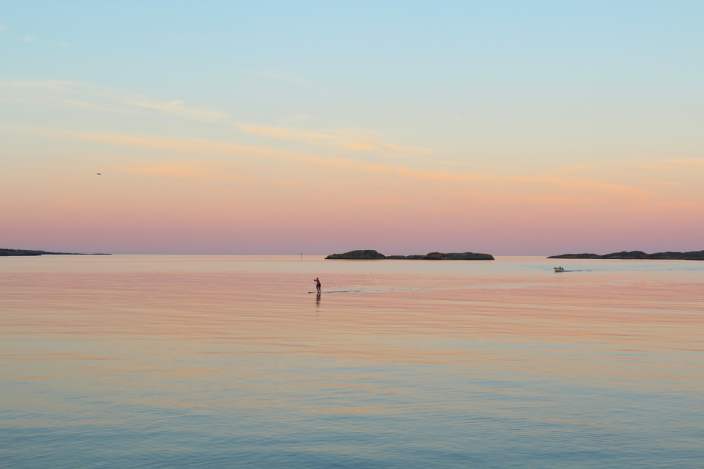 SUP Norge amazing Norway sunset