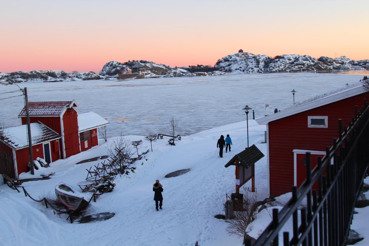 Stavern sentrum Larvik kommune vinter
