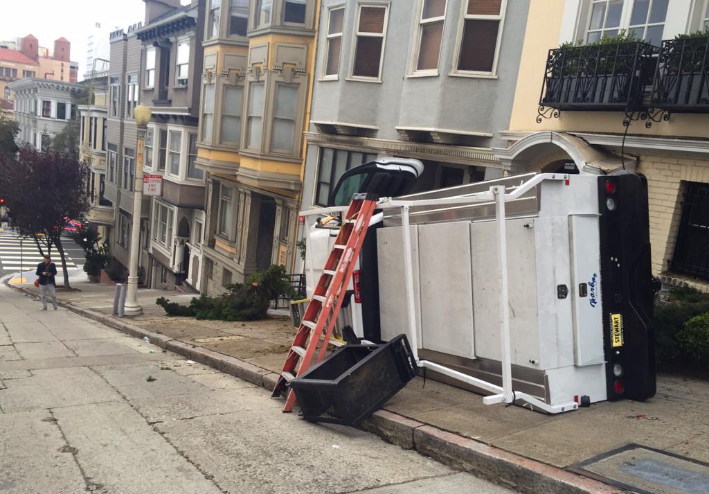 car crash San Fran