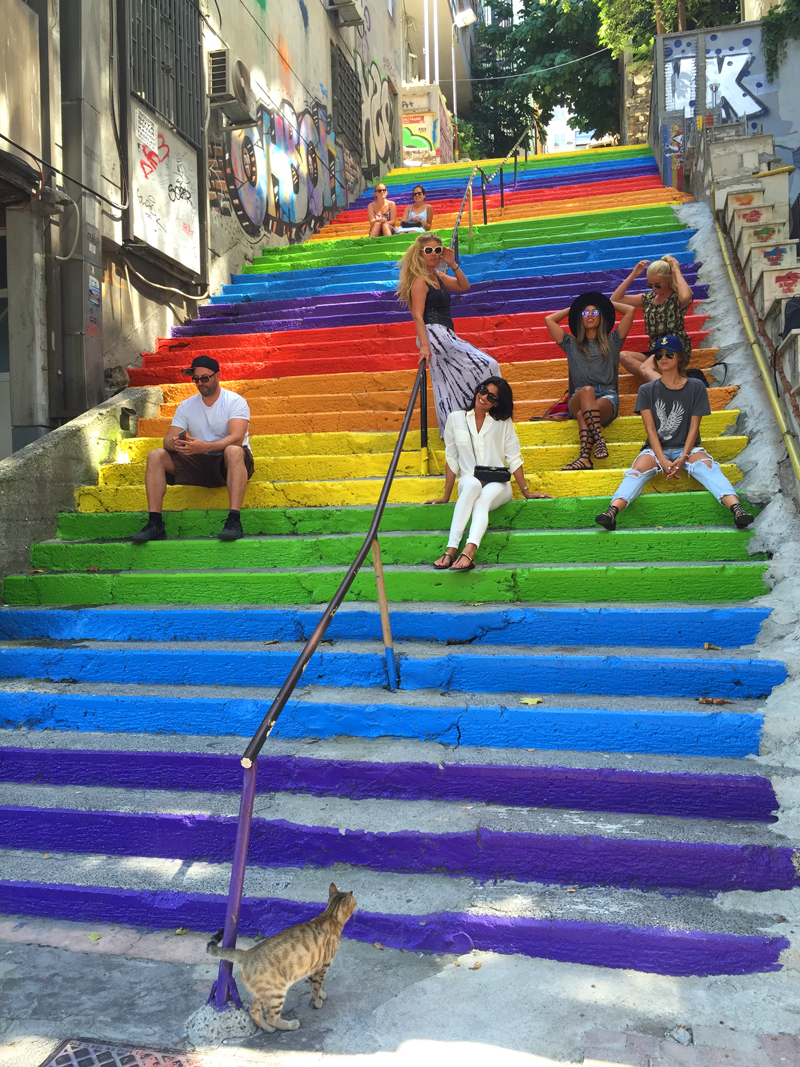 colorful stairs istanbul