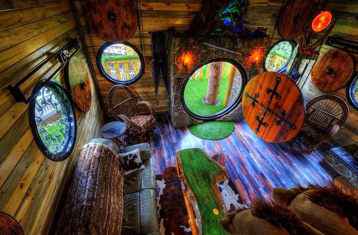 hobbit-hytte, lord of the rings treehouse, ringenes herre trehytte, hotell, positivista, merete gamst, reiseblogg, south dakota, USA, reise, hotelltips