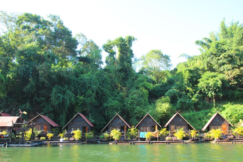 hotel on water kanchanaburi thailand