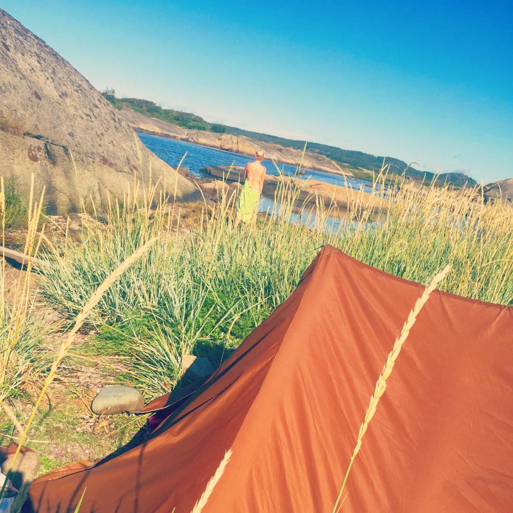 nakenbading telttur kyststien