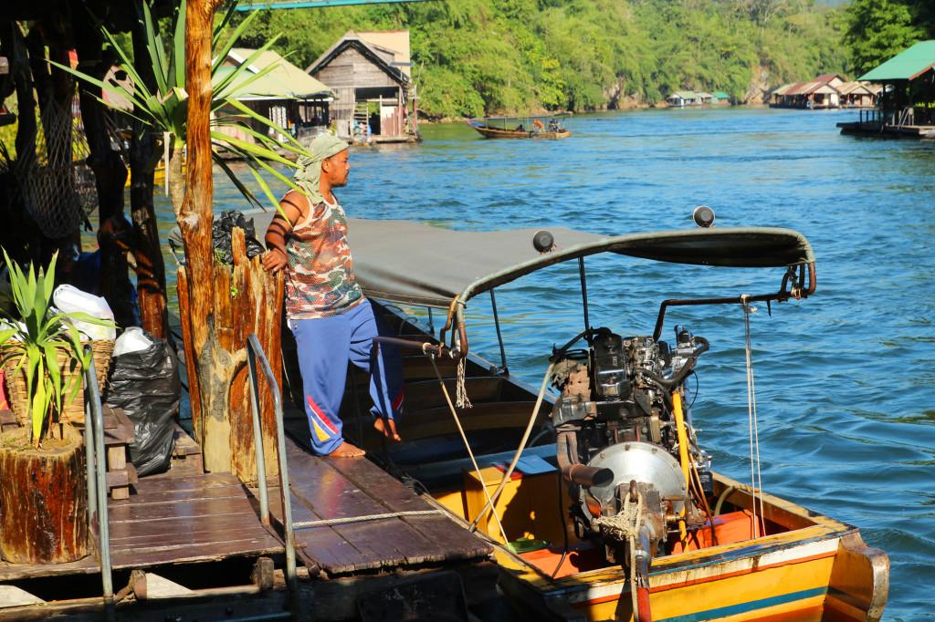 river boat hotel thailand jungle