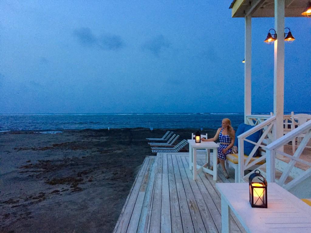 romantisk strandrestaurant i karibien st kitts