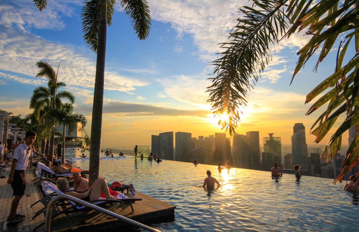 Pakk kofferten positivista - Singapore marina bay sands pool ...