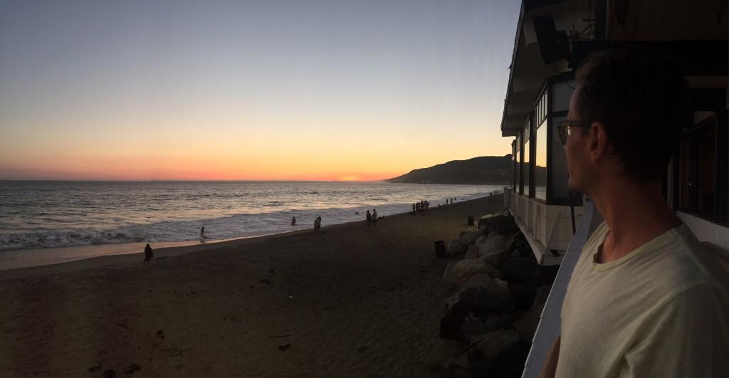 solnedgang, LA, Andy