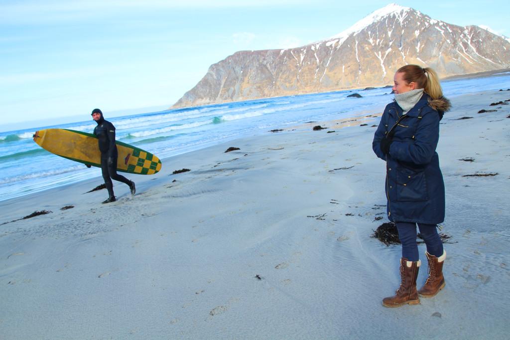 surfemiljø lofoten unstad flakstad