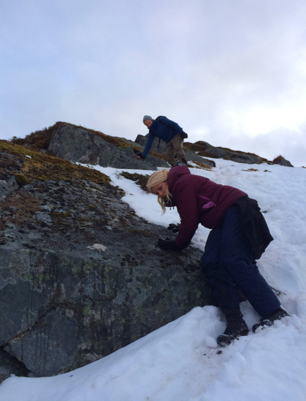 vanskelig terreng i lofoten fjellet